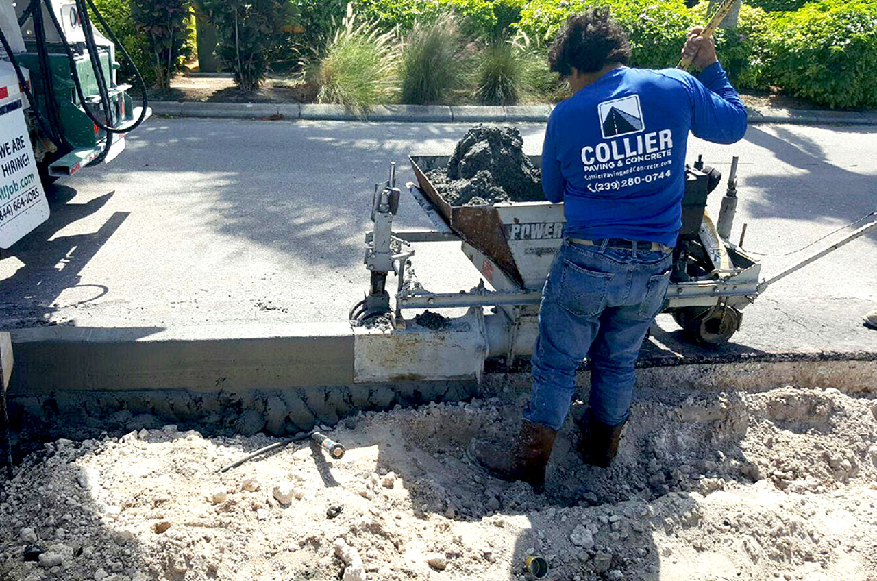 Collier Paving and Concrete - Parking Lot Curb Machine