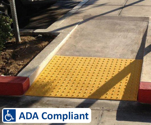 ADA Handicap Compliant Concrete Ramp - Collier Paving and Concrete