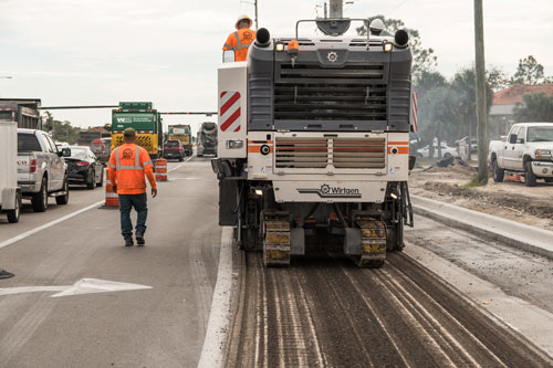 Asphalt Milling Machine - Collier Paving and Concrete