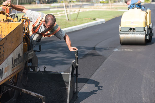 Asphalt Steel Roller - Collier Paving and Concrete