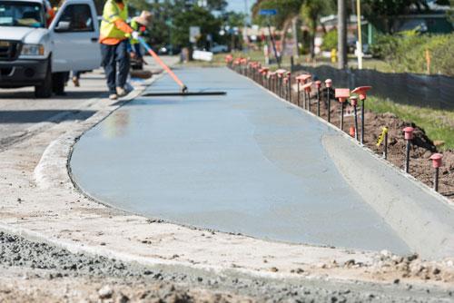 ADA Compliant Sidewalk - Collier Paving & Concrete